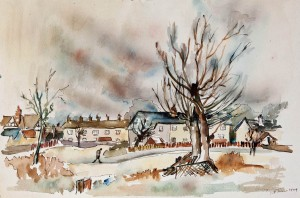 "Worsley, 1949, Watercolour, 13"" x 19"""